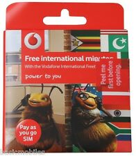 Vodafone International Simcard Standard/Micro/Nano Cheap International Calls