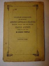 Saggio Biografie Arte, Pompilj: Opuscoli Artistici Letterari Grandi Artisti 1868