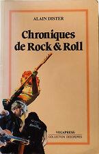 LIVRE CHRONIQUES DE ROCK & ROLL - ALAIN DISTER 1987 VEGAPRESS