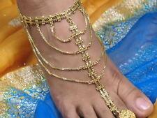 Indien Indische Bollywood Bauchtanz Modeschmuck vergoldet Fußkette Fußketten NEU