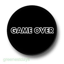 Game Over 1 Inch / 25mm Pin Button Badge Video Games Retro Arcade Computer Fun