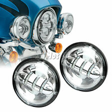 """2x 4.5"""" LED Daymaker Auxiliary Passing Spot Fog Lights Lamp for Harley Touring"""