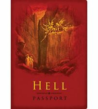 Hell Passport Pocket Notebook Religion Joke Underworld Ticket to Hell