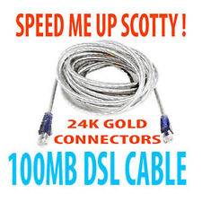 24k Gold Plated Hi-Speed DSL MODEM Cable .U NEED IT! UK