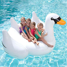 Inflatable Giant Swan Float Toy Rideable Raft Swimming Pool Water Fun Swim Ring