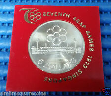 1973 Singapore Seventh SEAP Games $5 Commemorative 25.05gm .500 Fine Silver Coin