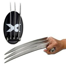 X-Men Wolverine Claws Blades 2 Stainless Steel Claws w Plaque Marvel Collectible