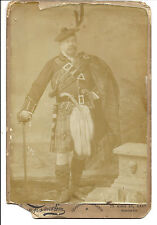 A Victorian Cdv Photograph Of A Canadian Man In Scottish Dress Sporran (1992)