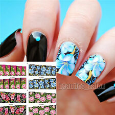 1Sheet Nail Art Water Transfer Decals Stickers Flower Floral Manicure Decoration