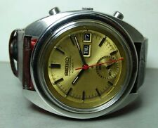 VINTAGE SEIKO CHRONOGRAPH AUTOMATIC DAY DATE 755527 MENS WATCH USED B180 ANTIQUE