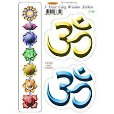Static Cling Colourful Window Sticker Set: Chakras & Oms (T148)