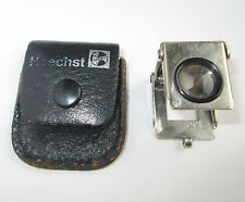 VINTAGE GERMAN Hoechst SMALL POCKET FOLDING MAGNIFIER MAGNIFYING GLASS LOUPE
