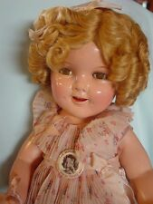 IDEAL VINTAGE COMPOSITION SHIRLEY TEMPLE DOLL IN RARE, MINT TAGGED SPRING DRESS