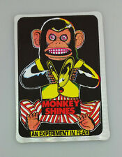 RETRO 1980s VINTAGE MONKEY SHINES VENDING MACHINE HORROR STICKER