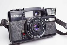 Minolta HI-MATIC SD2 DATE BLACK 35mm Film Camera 38mm f/2.8 Lens Made in Japan