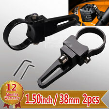 2x 1.5 inch/38mm LED Light Bull Bar Roll Cage Mounting Brackets Clamps Holder