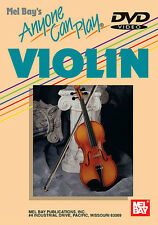 ANYONE CAN  PLAY VIOLIN BEGINNER LESSON NEW DVD