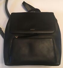 DKNY 'Greenwich' Smooth Leather Backpack in Black NWT