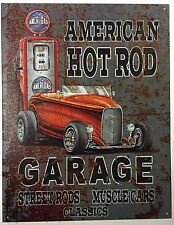 American Hot Rod Garage Street Roads Muscle Cars Vintage Retro Tin Sign Pub bar
