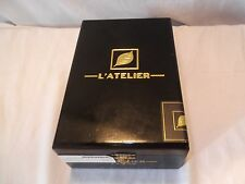 Beautiful solid wood cigar box, hinged lid, fitted interior. L'atelier 56