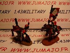 SOLDAT de plomb DEL PRADO 1/50 : AUSTERLITZ Napoléon : lot n°11 2 cavaliers