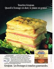PUBLICITE ADVERTISING 044   1987   GROSJEAN  fromage gruyère fondu 2