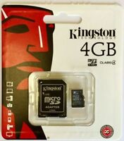 4GB Micro SDHC SD Memory Card for Nintendo DS DSi XL 3DS LITE and Wii - KINGSTON