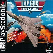 TOP GUN Fire At Will! (Sony PlayStation)ps2 ps3 Black Dick! F14 MIG Air Combat!!