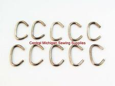"SEWING MACHINE LEATHER BELT HOOKS 5/16"" Lot of Ten"