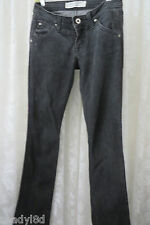 HUDSON JEANS BLACK STRETCH DENIM 26/31 straight leg fine tailored jean