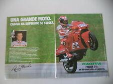 advertising Pubblicità 1988 MOTO CAGIVA FRECCIA 125 C10 C 10 e RANDY MAMOLA