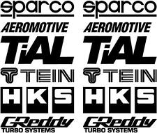 12 Matt Black Car Door Stack Sponsor Logo Stickers,Graphics,Decals Colour Choice