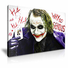 JOKER Why So Serious Canvas Art Framed Print 30X20 INCH / 76x50CM SPECIAL OFFER