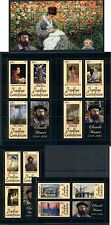 Central Africa Art Impressionist France Claude Monet complete MNH stamp set