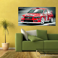 MITSUBISHI LANCER EVOLUTION EVO VII WRC RALLY CAR LARGE AUTOMOTIVE POSTER 24x48