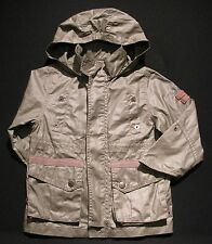 Boy's 4A 102 JEAN BOURGET Hooded Waxed Cotton Cargo Jacket