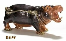 "HIPPO ~ "" THE RIVER HORSE "" ~  ENAMELED JEWEL BOX  #3339"