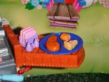 Rement Miniature Chicken Dinner Blue Plate fits Fisher Price Loving Family Dolls
