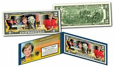ANGELA MERKEL * Chancellor of Germany * Official Genuine Legal Tender $2 US Bill