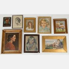 A Miscellaneous Collection of Framed Oil Paintings and Drawings by Va... Lot 444