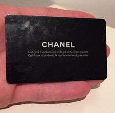 Chanel International Warranty Card Watch Certificate Open / Blank Guarantee! J12