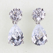 Enchanting Swarovski crystal 18k white gold filled best sell dangle earring