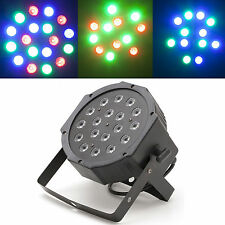 18W RGB LED Lamp Flat Par Night Light 6 Channel DMX Control Stage Party Decor