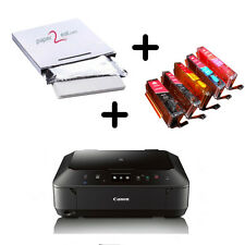EDIBLE INK PRINTER CANON PIXMA MG6620 WIRELESS + FROSTING SHEETS + 5 EDIBLE INKS