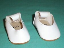 """pair of doll shoes/ artificial leather 2  1/4"""" white/ Goetz dolls"""