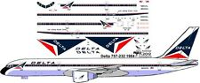 Delta delivery livery Boeing 757-200 decals for Minicraft 1/144 kit