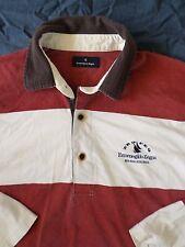 ERMENEGILDO ZEGNA authentic red white stripe sailing rugby shirt MEDIUM
