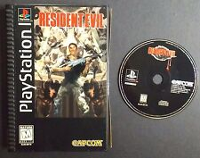 Resident Evil (Sony PlayStation 1, 1996) Long Box Black Label Edition PS1 USED