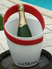 Vintage white quality champagne or wine ice bucket seau Mumm