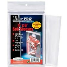 100 Ultra Pro 4x6 Soft Sleeves for Photos Crystal Clear Archival Polybag 4 x 6